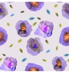 Vintage Watercolor Flower Pattern White backdrop vector image