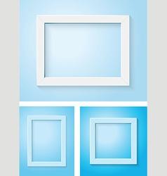 white and blue frame set vector image