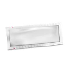 white blank polyethylene plastic sachet bag vector image