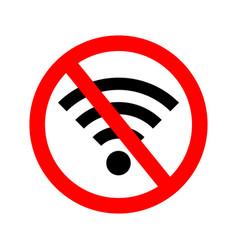 wifi error wifi signal offline icon off vector image