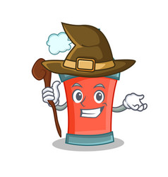 witch aerosol spray can character cartoon vector image