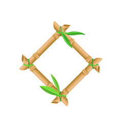 wooden frame made of bamboo sticks and bamboo vector image