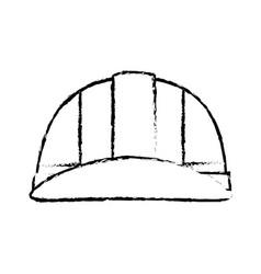 worker safety helmet vector image