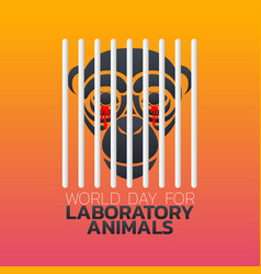 world day for laboratory animals logo icon design vector image