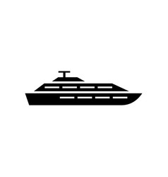 yacht icon design template isolated vector image