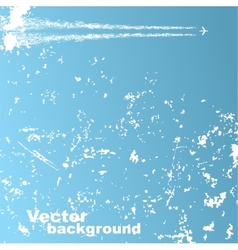 Background with plane and clouds vector image