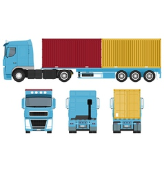 Container Truck Set vector image vector image
