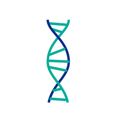 dna molecule sign genetic elements and icons vector image