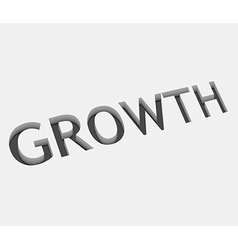 growth text design vector image