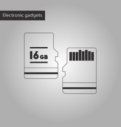 black and white style icon micro sd vector image