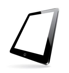 black computer tablet vector image vector image