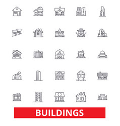 buildings houses city architecture vector image