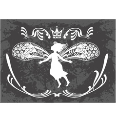 Flying beautiful fairy vector image