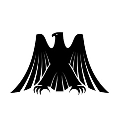 Imperial eagle with long trailing wing feathers vector image