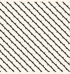 seamless pattern with diagonal lines branches vector image vector image