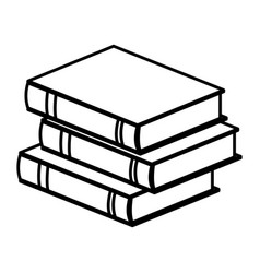 stack book literature learning study vector image