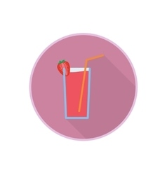 symbol of fresh strawberry juice cocktail vector image vector image