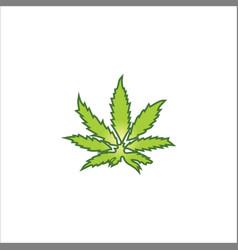 Marijuana leaf logo vector
