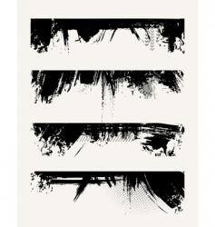 set of grunge edges vector image