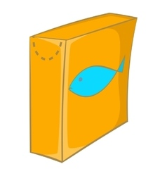 Box with food for cats icon cartoon style vector image vector image