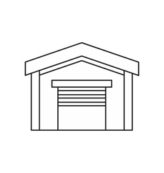 Car garage icon outline style vector image