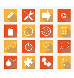 collection of flat icons vector image vector image