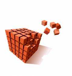 cube puzzle vector image vector image