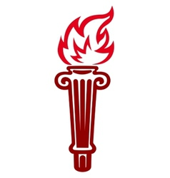 Flaming torch vector image