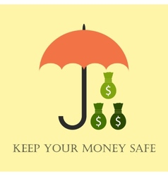 Keep your money safe vector image