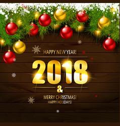 2018 year golden figures vector image