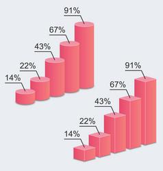 3d charts statistics vector image
