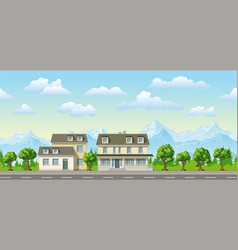 a classic family house with trees vector image