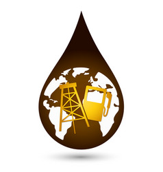 A drop of oil vector