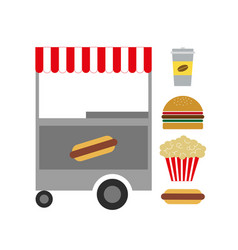 american fast food vector image