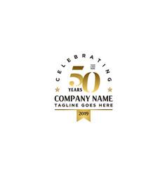 anniversary 50th celebrate company logo vector image
