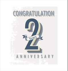 Anniversary banner collection 2 years vector