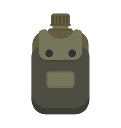 Army water canteen vector image