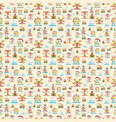 Attraction seamless pattern vector