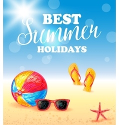 Best Summer Holidays Poster vector