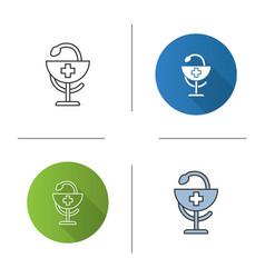 bowl hygeia icon vector image