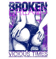 Broken dreams vector
