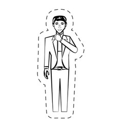 businessman expression people image cutted line vector image