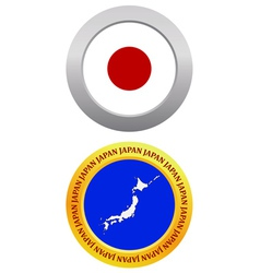 button as a symbol map JAPAN vector image
