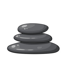 Cartoon zen spa stones stack on white background vector