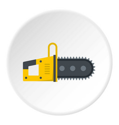 Chainsaw icon circle vector