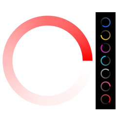 Circular preloader buffer loader element w vector