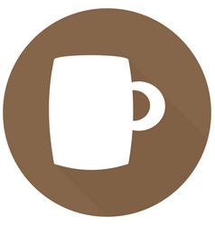 coffee cup - icon with long shadow vector image