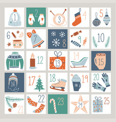 countdown advent calendar vector image