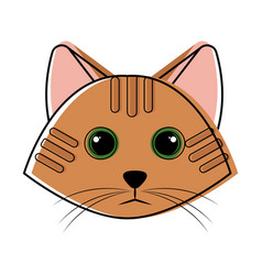 cute cat avatar sketch vector image