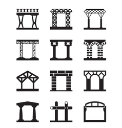 different types building structures vector image